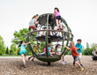 Landscape Structures Introduces Global Motion™ a Revolutionary Freestanding Rotating Climber