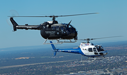 Eurocopter (now Airbus) BO105LS and AS350 of Heliwest
