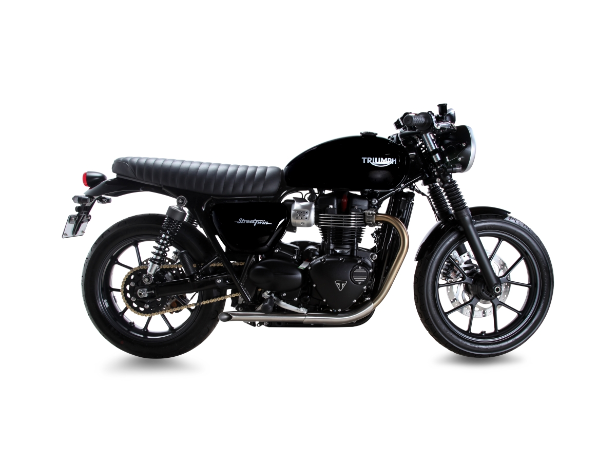 new retro-style bolt-on exhaust for the 2016 triumph street twin