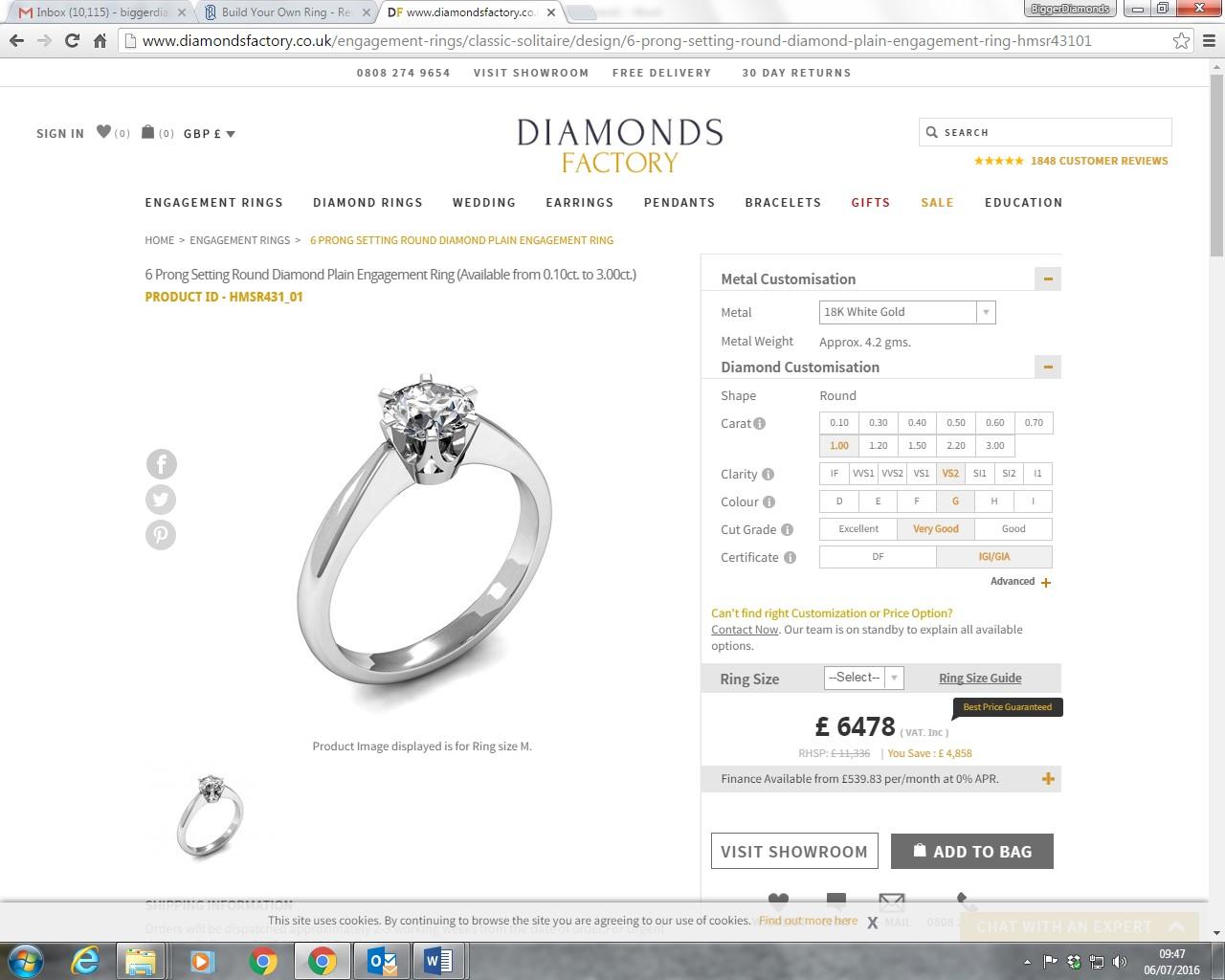 Diamondsfactory £642800