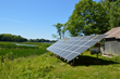CreekSide net zero house consists of 36 mono solar panels that make up a 10,260 watt ground mount photovoltaic array.
