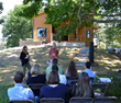 Tom Lambert and Ann Buchau, homeowners of CreekSide Net Zero Home and owners of CreekSide Energy Solutions, answered questions throughout the NESEA tour.