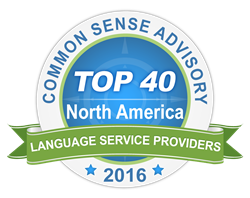 Common Sense Advisory Top 40 LSPs in North America
