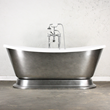 'CHRISTOFORO' CoreAcryl Acrylic French Bateau Pedestal Bathtub Package