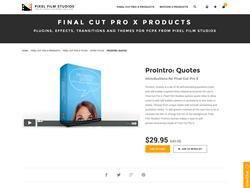Pixel Film Studios Plugin - ProIntro Quotes - FCPX