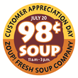 Zoup! Sells Soup for 98 Cents Franchise-wide to Thank Customers