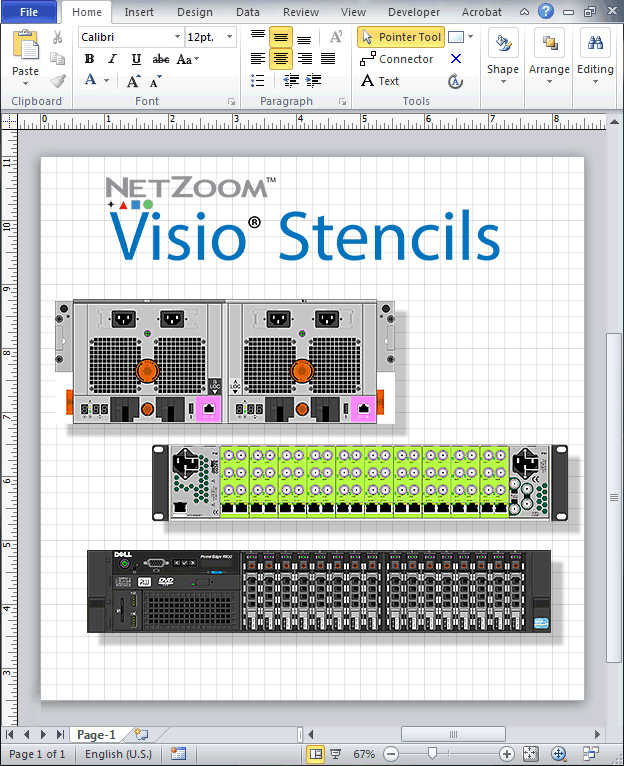 netzoom� visio174 stencils library updated for data center