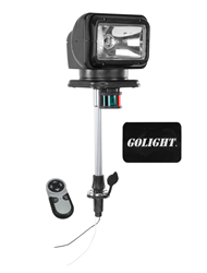 12 Inch Stanchion Mounted Remote Control Spotlight