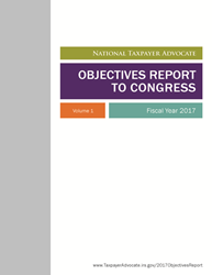 FY17 Objectives Report to Congress Cover