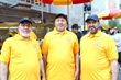 The Halal Guys founders, Mohamed Abouelenein, Ahmed Elsaka and Abdelbaset Elsayed