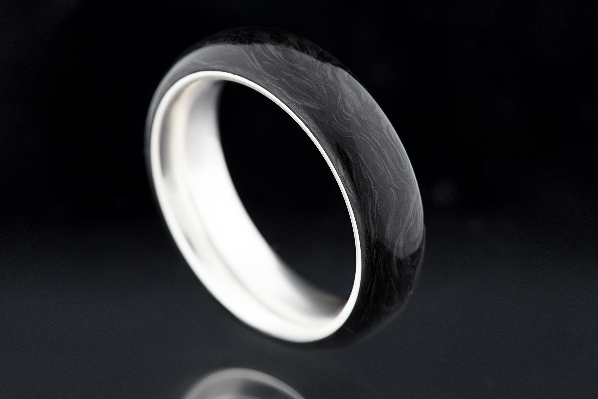 Carbon Silver Ring By Carbon 6