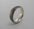 Spider Silk Damascus Ring with Silver Interior by Carbon 6