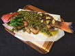 Red Pepper Lime Whole Grilled Red Snapper with Grilled Peach Pistachio Gremolata, Gilchrist Club, Trenton, FL