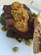 "Grilled Flat Iron Steak ""Al Fresco"" Roasted Pepper Chimichurri, Doral Arrowwood Resort, Rye Brook, NY"
