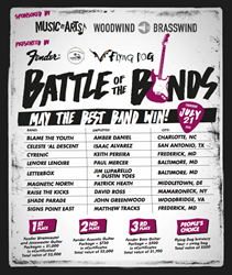 National music companies, Music & Arts, Woodwind & Brasswind, and Fender, will partner with local businesses to host 2nd annual Battle of the Bands competition this month in Frederick.
