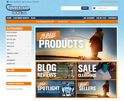 Image of the new CumberlandTackle.com e-commerce website