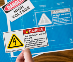 Best practice product safety labels and signs require complete content.