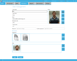 face and fingerprint biometrics for time and attendance logging