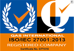 ISO/IEC 27001:2013 certification logo