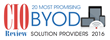 Movius Selected as One of the 20 Most Promising BYOD Solution Providers 2016 by CIOReview