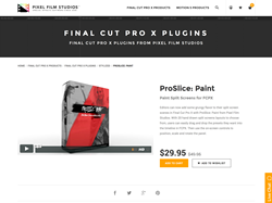 Final Cut Pro X Plugin - ProSlice Paint - Pixel Film Studios
