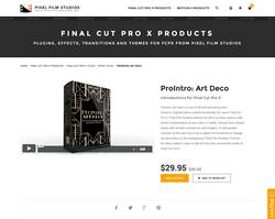 Pixel Film Studios Plugin - ProIntro Art Deco - FCPX