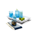 Aurora Drinkware in Topaz by Q Squared NYC