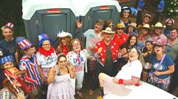 Patriotic Group Honey Bucket Selfie