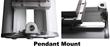 Pendant Mount Illustration for the EPL-48-2L Fluorescent Light Fixture