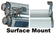Surface Mount Illustration for the EPL-48-2L Fluorescent Light Fixture