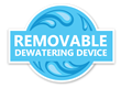 Removable Dewatering Device, a utility patent which makes cleaning and maintaining the dewatering device faster and more time-efficient.