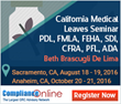 ComplianceOnline Announces Seminar on California Medical Leaves - PDL, FMLA, FEHA, SDI, CFRA, PFL, ADA, Workers Comp, and Handling Performance Management Challenges