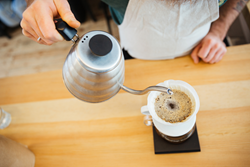 Learn hand-pour coffee brewing in Columbus at Crimson Cup Innovation Lab