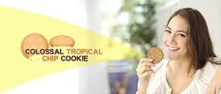 The Colossal Tropical Chip Cookies is a recipe patent perfect for making a healthy and delicious snack.