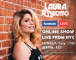 Laura Rizzotto- FACEBOOK LIVE SHOW Flyer