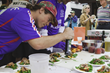 The Taste of the Tetons, held on Jackson Town Square, offers Jackson Hole Fall Arts Festival guests the chance to sample the best culinary artistry of area chefs and restaurants.