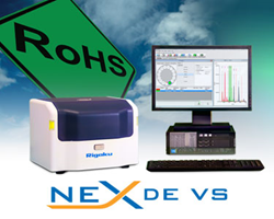 Rigaku NEX DE VS EDXRF for ROHS