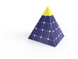 Pyramid Solar Solutions is an energy invention with an internal rechargeable battery that allows it to be used even during the night.