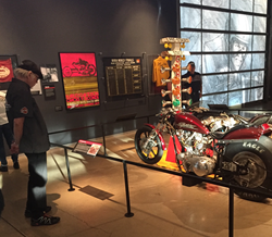Ray Price, drag racing exhibit, Harley-Davidson Museum