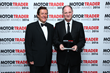 Andy Bruce receiving his award at the Motor Trader Awards