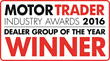 The prestigious Motor Trader Dealer Group of the Year was awarded to Lookers in 2016.
