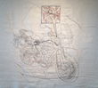 """Triumph,"" wall-size embroidery piece, 2013, Collection Cherryhurst House"