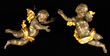 Pair of 18th century Italian putti, carved wood