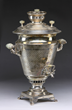 19th century Russian solid silver samovar hallmarked for Mikhail Ovchinnikov