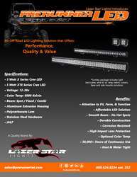 PreRunner LED Product and Price Flyer
