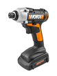 WORX® 20V Impact Driver delivers 950 in.-lbs. of torque.