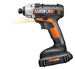 The WORX 20V Impact Driver's compact design and short headstock allow easy access in tight quarters.