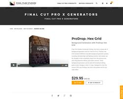 ProDrop Hex Grid - FCPX Plugin - Pixel Film Studios