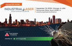 Industrial Laser Conference 2016