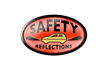 Safety Reflections is a paint that can be applied along the driver side door to increase visibility of the car at night.